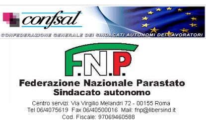 Adesione sindacato FNP alla Conf.sal